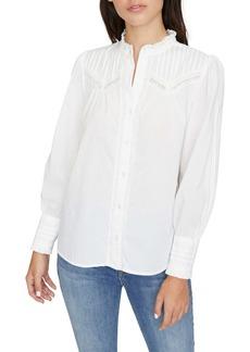 Sanctuary Keepsake Heirloom Lace Trim Cotton Blouse (Regular & Petite)