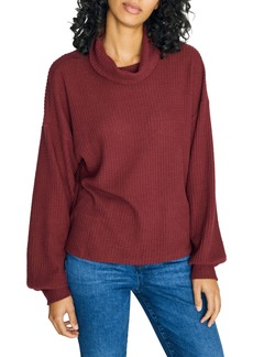 Sanctuary Klara Waffle Knit Turtleneck Sweater (Regular & Petite)