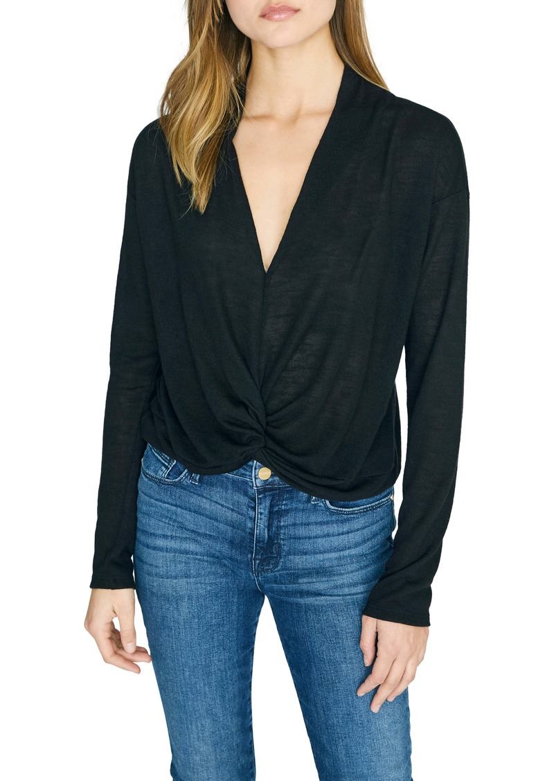 Sanctuary Knot Interested Plunge Neck Top (Regular & Petite)