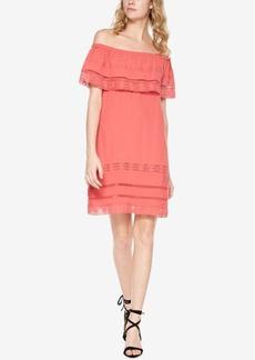 Sanctuary Lace-Trim Flounce Dress