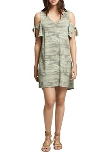 Sanctuary Lakeside Camouflage Cold-Shoulder Tee Dress