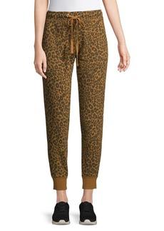 Sanctuary Leopard Peace Cotton Jogger Pants
