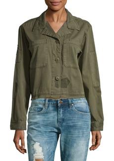 Sanctuary Lieutenant Fatigue Cotton Cropped Jacket