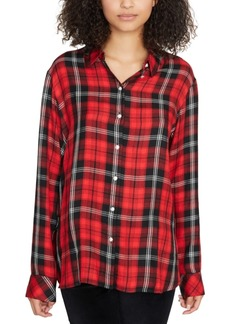 Sanctuary Life Of The Party Plaid Boyfriend Shirt