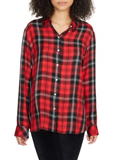 Sanctuary Life of the Party Plaid Boyfriend Shirt (Regular & Petite)