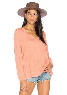 Sanctuary Lily Rose Blouse in Peach. - size L (also in M,S,XS)