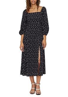 Sanctuary Lindsey Square Neck Long Sleeve Midi Dress