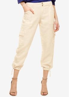 Sanctuary Linen Cropped Cargo Pants