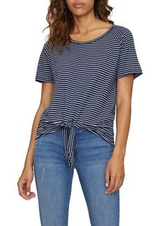 Sanctuary Lou Stripe Tie Hem T-Shirt (Regular & Petite)