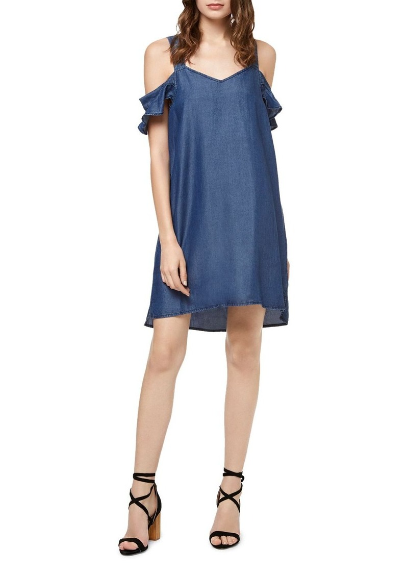 Sanctuary Madeline Cold-Shoulder Chambray Dress