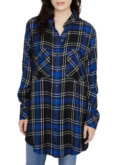 Sanctuary Main Street Plaid Boyfriend Tunic Top