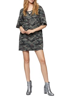 Sanctuary Mariska Lace-Up Sweatshirt Dress