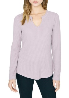 Sanctuary Marline Waffle Knit Notch Neck Top (Regular & Petite)