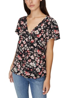 Sanctuary Mia Printed Button-Front Top