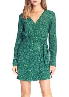 Sanctuary Micro Leopard Printed Wrap Dress