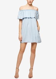 Sanctuary Misha Off-The-Shoulder Printed Flounce Dress