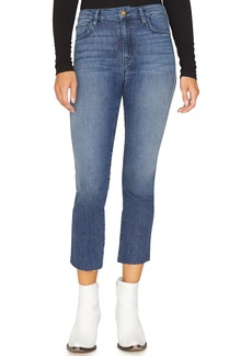 Sanctuary Modern High Rise Raw Hem Crop Jeans (District Blue)