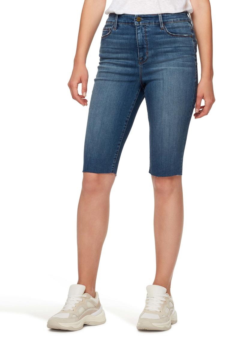 Sanctuary Modern High Waist Skimmer Denim Bermuda Shorts (Kestrel)