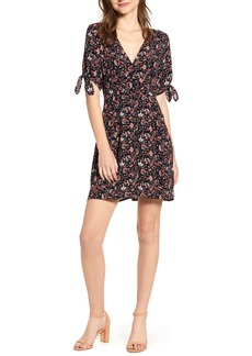 Sanctuary Modern Love Floral Button Front Minidress