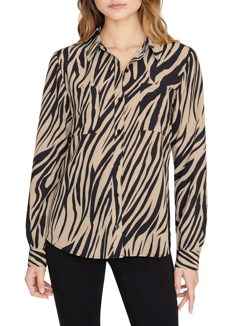 Sanctuary Monday to Sunday Animal Print Button-Up Shirt