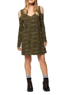 Sanctuary Morgan Cold-Shoulder Camouflage T-Shirt Dress