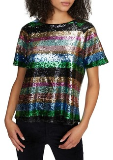 Sanctuary Multicolored Sequin Top