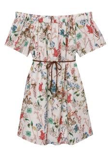 Sanctuary Muscari Floral Eyelet Trim Cotton Dress