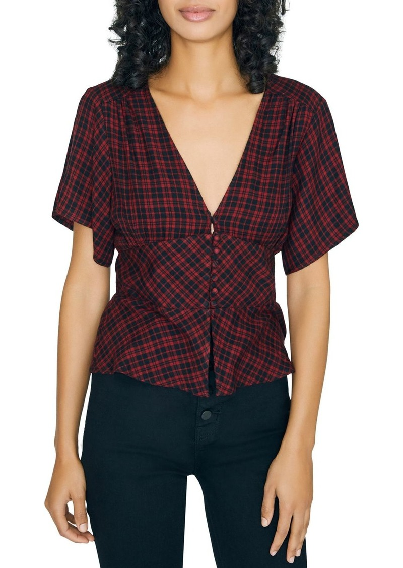 Sanctuary New Moon Micro-Buffalo Check Blouse