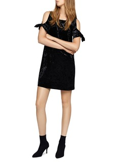 Sanctuary Night Slayer Velvet Cold-Shoulder Dress