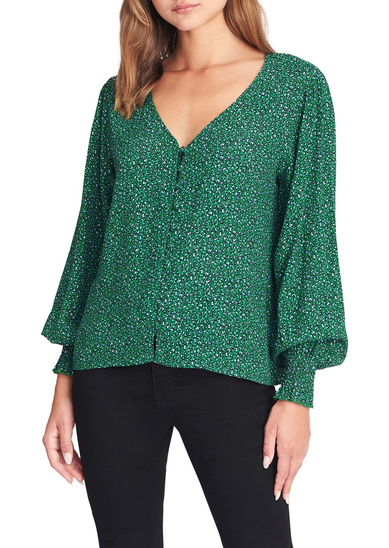 Sanctuary Noelle Smocked Cuff Blouse (Regular & Petite)