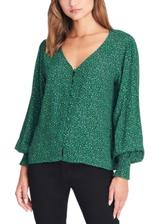 Sanctuary Noelle Smocked-Sleeve Blouse