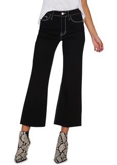 Sanctuary Non Comformist Contrast Stitch Wide Leg Crop Jeans (Eyeliner)