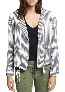 Sanctuary Nova Hooded Stripe-Print Linen Jacket