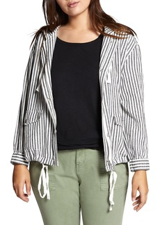 Sanctuary Nova Stripe Hooded Jacket (Plus Size)