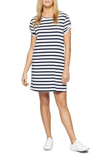 Sanctuary Ojai Stripe Drawstring Sleeve Tee Dress