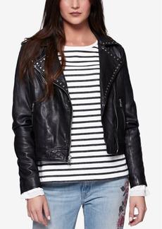 Sanctuary Ophelia Studded Leather Moto Jacket