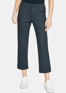 Sanctuary Oxford Plaid Kick-Flare Crop Capri Pants