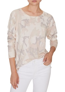 Sanctuary Pale Camo Cotton Blend Sweater (Regular & Petite)