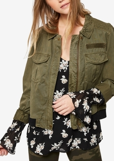 Sanctuary Patched Bomber Jacket