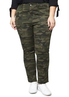 Sanctuary Peace Camo Release Hem Cargo Pants (Plus Size)