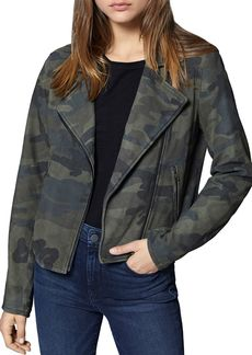 Sanctuary Peace Rider Camo Suede Moto Jacket