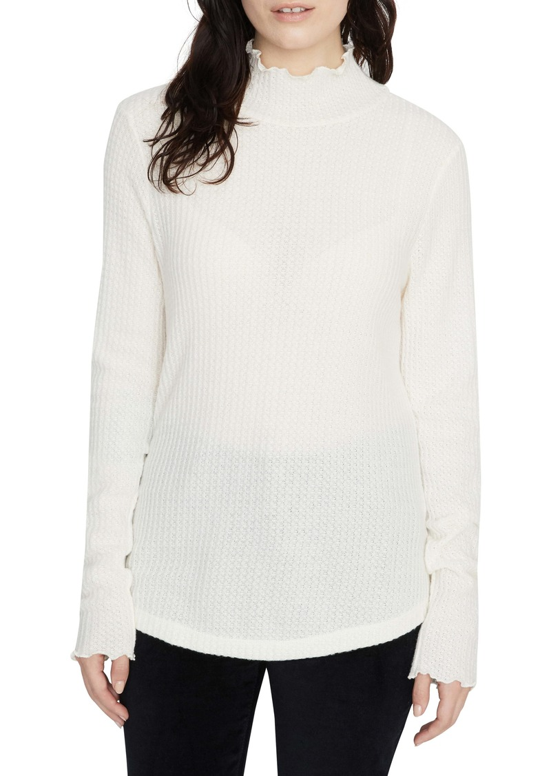 Sanctuary Pearla Waffle Knit Mock Neck Top