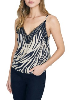 Sanctuary Perfect Match Zebra Print Lace Detail Camisole (Regular & Petite)