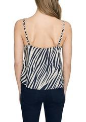 Sanctuary Perfect Match Zebra Print Lace Detail Camisole (Regular & Petite)