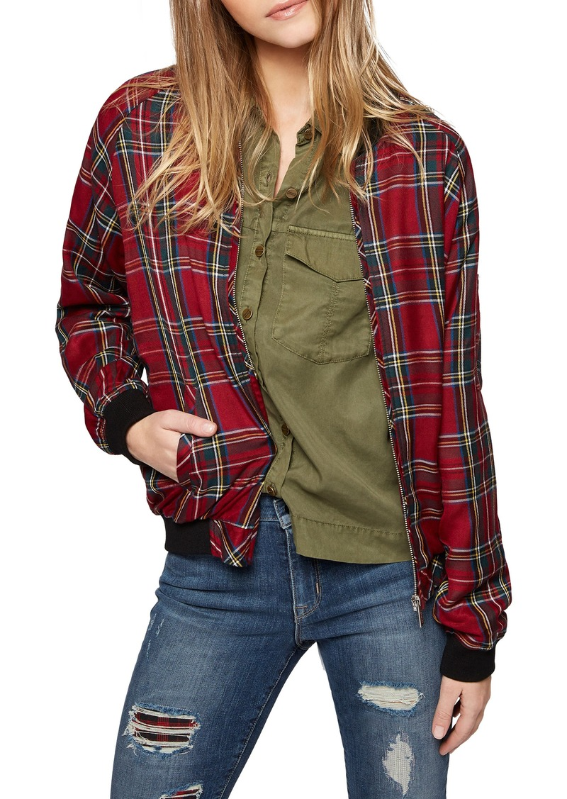 Sanctuary Plaid Bomber Jacket