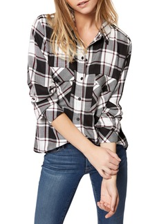 Sanctuary Plaid Boyfriend Shirt (Regular & Petite)