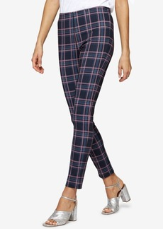 Sanctuary Plaid Ponte-Knit Capri Leggings