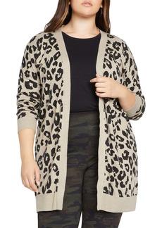 Sanctuary Play Leopard Spot Open Cardigan (Plus Size)