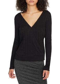 Sanctuary Polina Ribbed Faux Wrap Top (Regular & Petite)