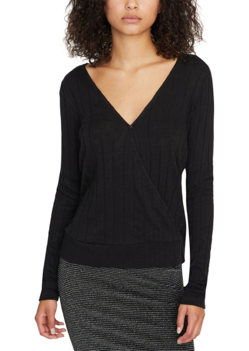 Sanctuary Polina Ribbed Wrap Top